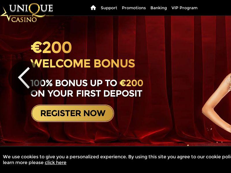 Unique Casino - DE, CH (DE,CH), [CPA], Gambling, Casino, Deposit Payment, million, lotto