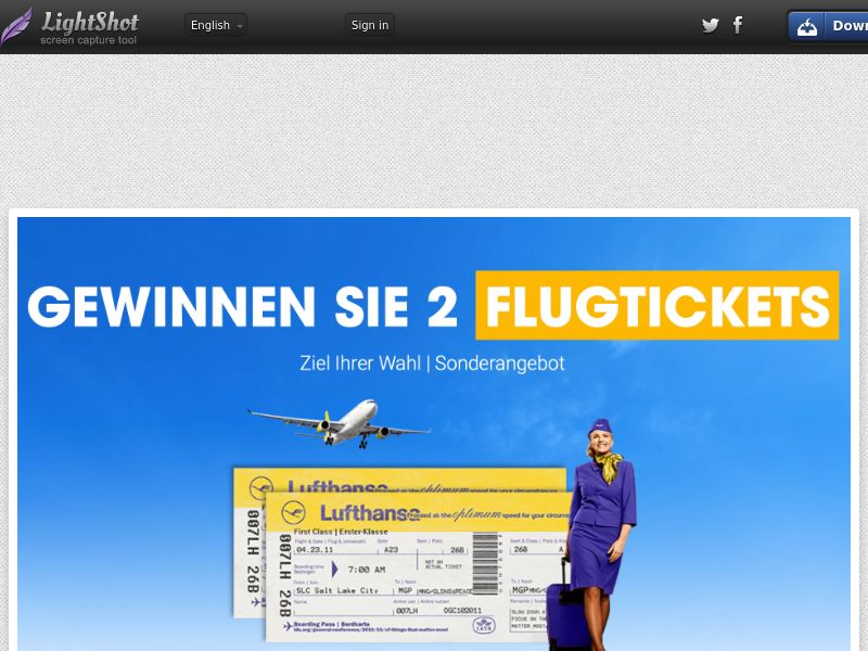 Win Lufthanza Tickets DE SOI (WEB) Non Incent