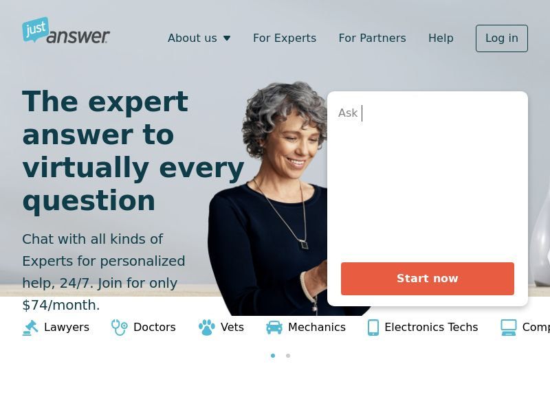 JustAnswer - 7-Day Trial for $5! - INCENT - US