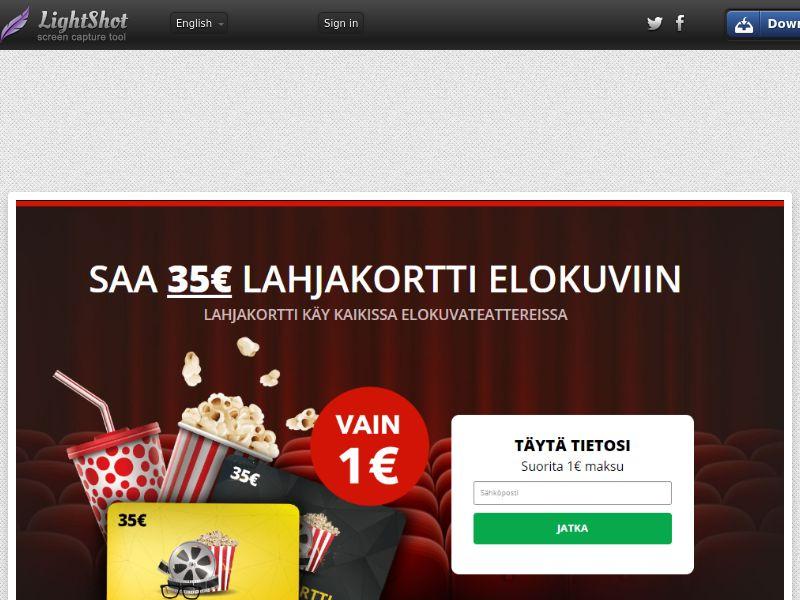 Cinema Giveaway (Sweepstake) (CC Trial) - Finland [FI]