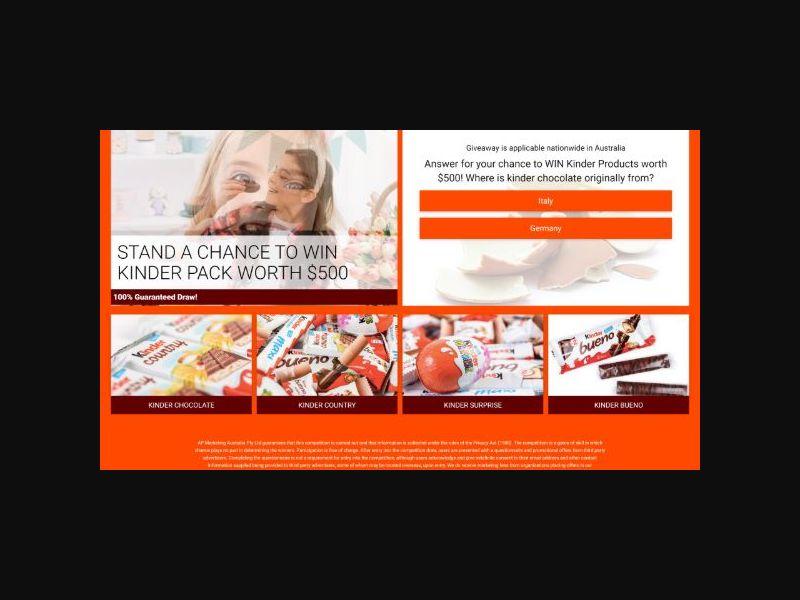 Win a $500 Kinder Pack - (AU)