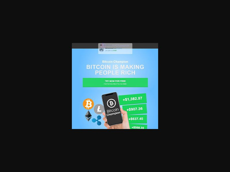 BitcoinChampion - Language Dynamic [DE,AT,CH,AU+] (Email,Banner,Native,Social) - CPA