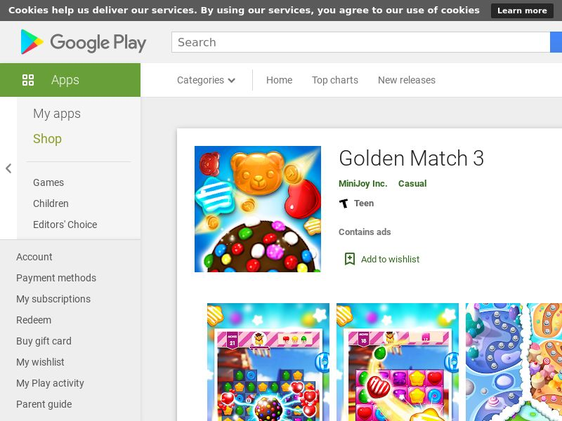 Golden Match 3 Android CPR US (hard kpi)