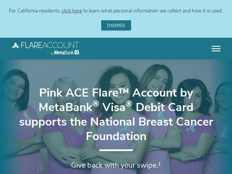 Sign up for the ACE Flare - Account by MetaBank® - INCENT - US