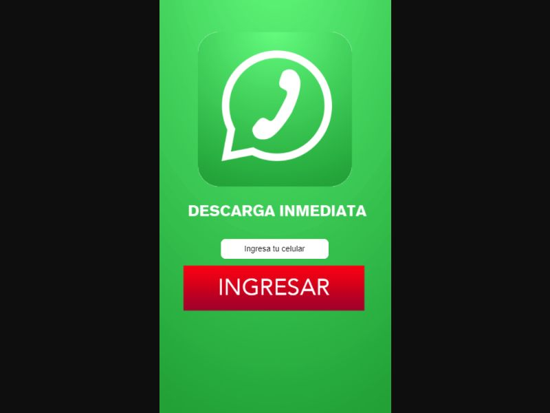 Honduras (HN) - Whatsapp Verde (Responsive) (Tigo)