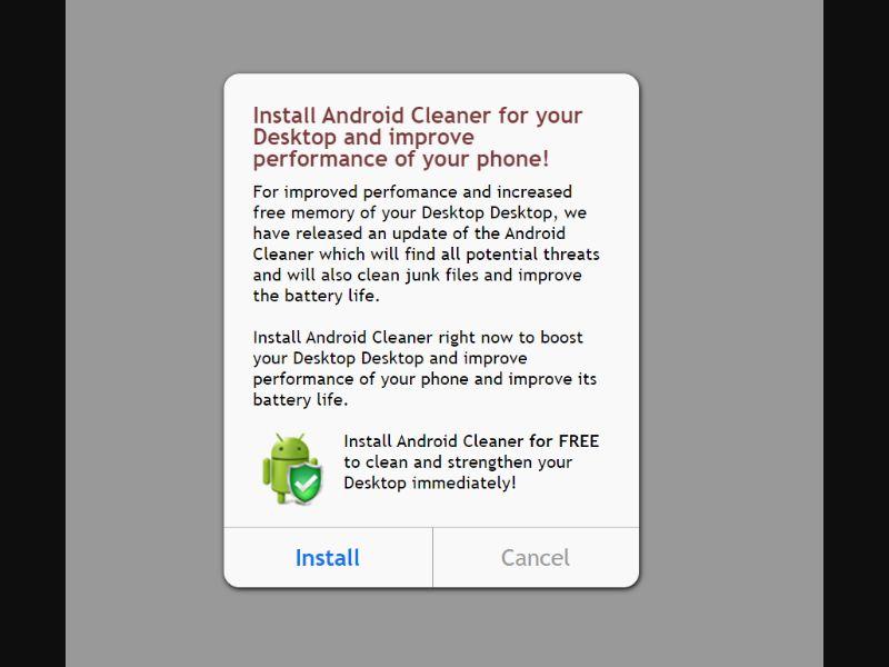 Android Booster Prelanding [AM,NI] - CPI