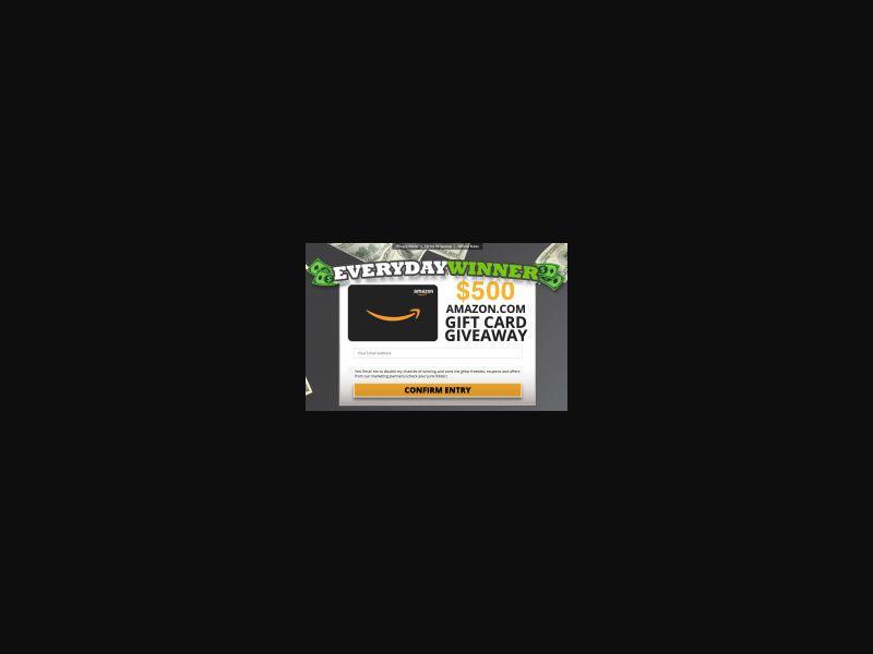 US - EverydayWinner - Amazon Gift Card [US] - SOI registration