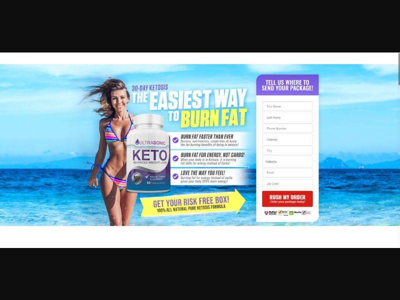 UltraSonic Keto - Diet & Weight Loss - SS - NO SEO - [US]