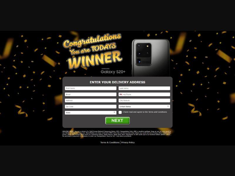 Samsung Galaxy S20+ - V1 - Sweepstakes & Surveys - Trial - [US]
