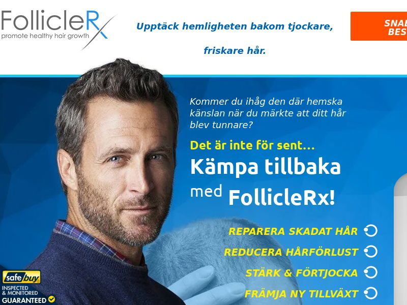 FollicleRx LP01 (Swedish) - Male - Hair
