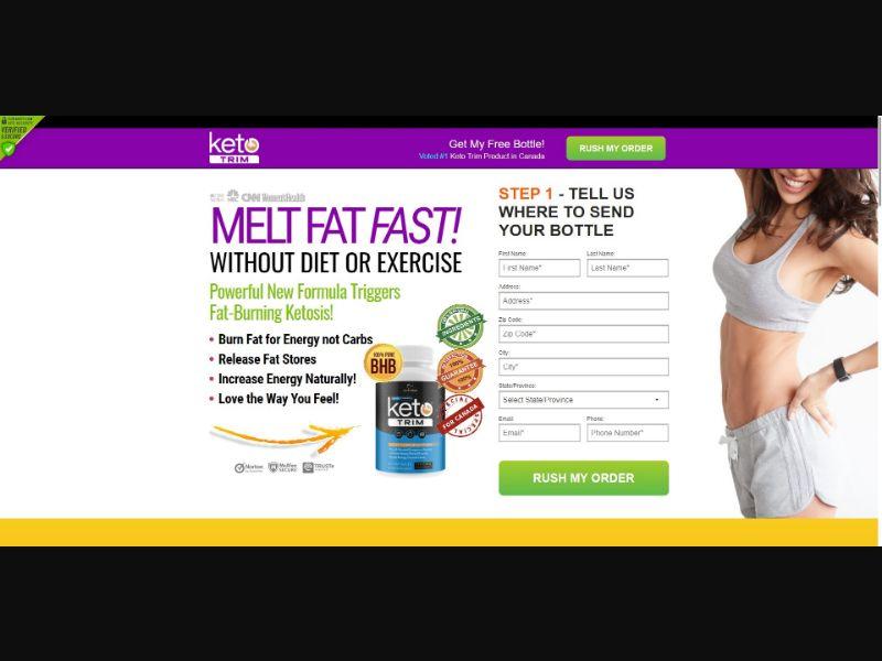Keto Trim - Diet & Weight Loss - SS - NO SEO - [CA]
