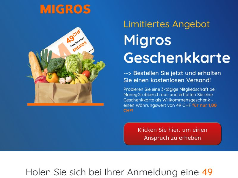 Migros (Supermarket Giftcard) - CH