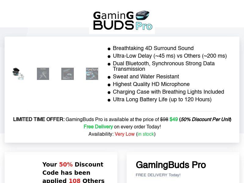 GamingBuds Pro (INTL) (CPS)