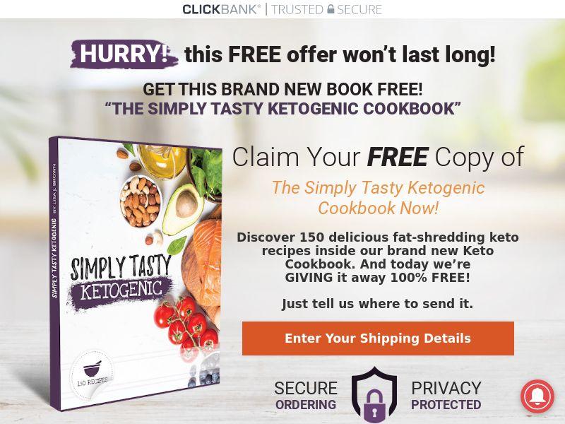 Simply Tasty Ketogenic [EBOOK] [KETO] - CPA - Straight Sale - US/CA