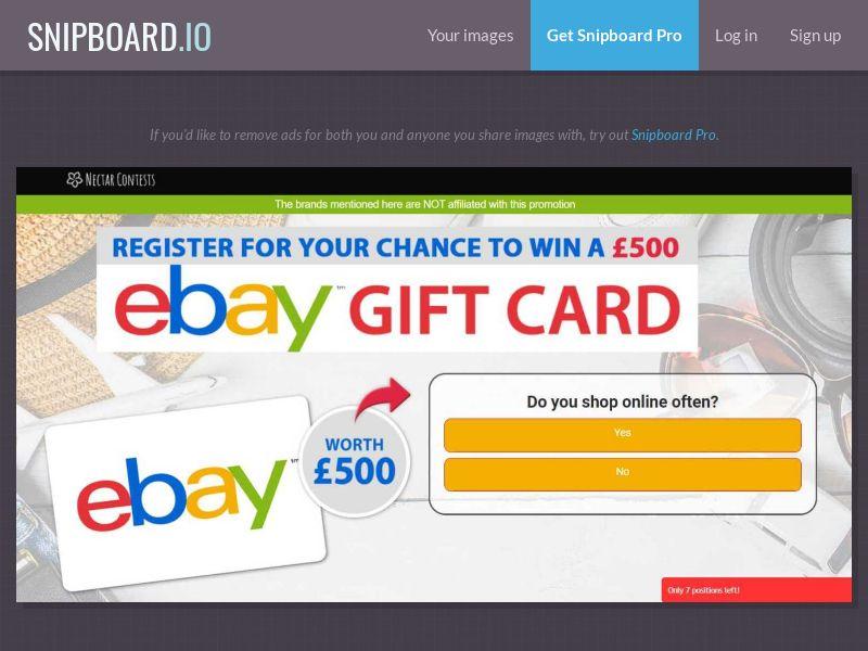 37372 - UK - NectarContests - Ebay - SOI