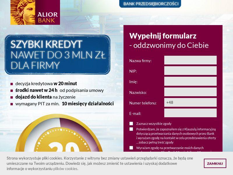 Alior Bank - Kredyt dla firm (PL), [CPL]