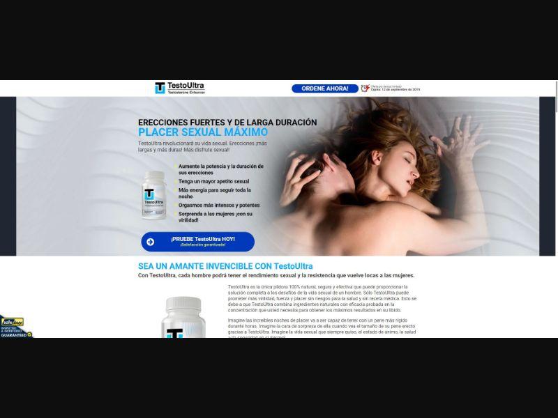 TestoUltra Testosterone Enhancer - Male Enhancement - SS - [DO]