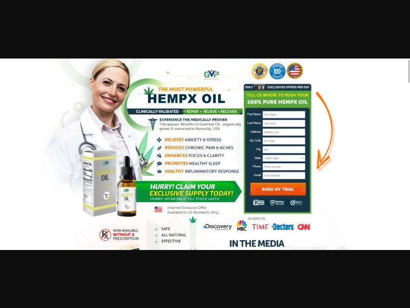 GVP Hempex Oil - CBD - Trial - [US]
