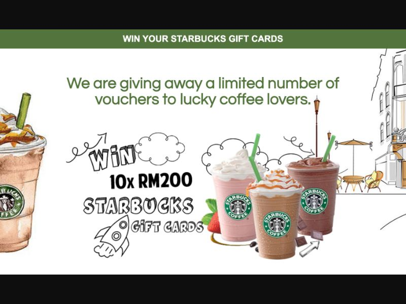 Starbucks - CPL SOI - MY - Sweepstakes - Responsive