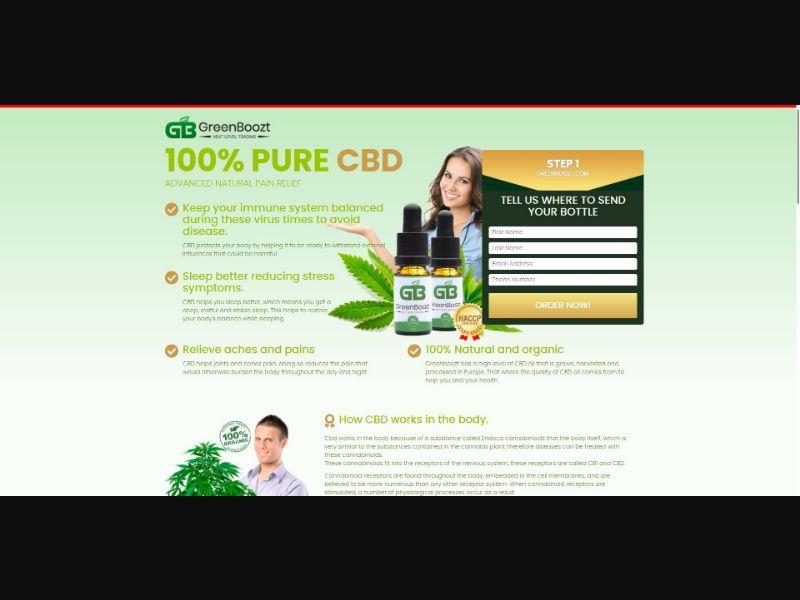 GreenBoozt CBD Oil - CBD - Trial - [UK]