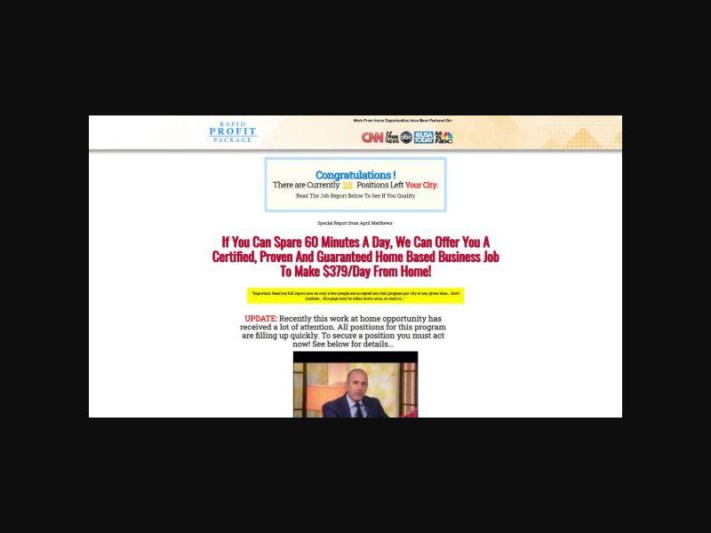 Rapid Profit Package - $37 CTU (US,CA,AU,NZ)