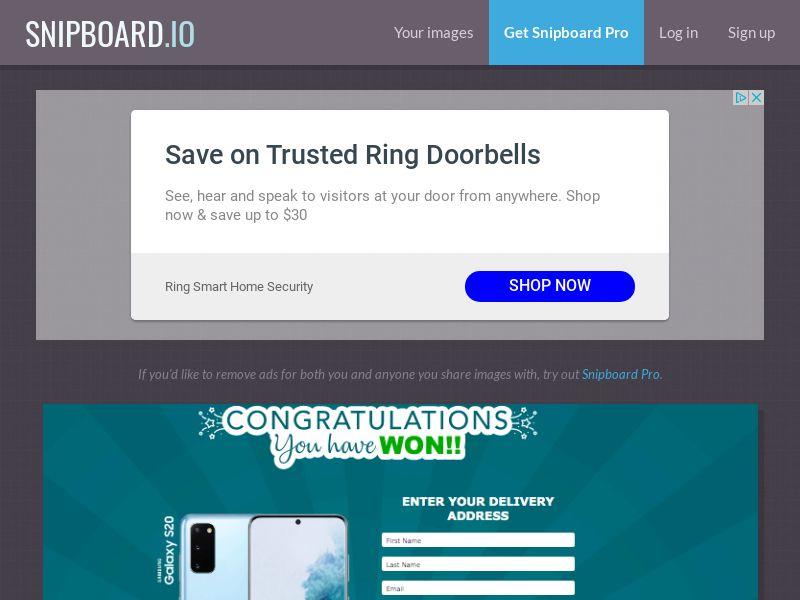 AbsoluteWinner - Samsung Galaxy S20 (Seasonal) US - CC Submit
