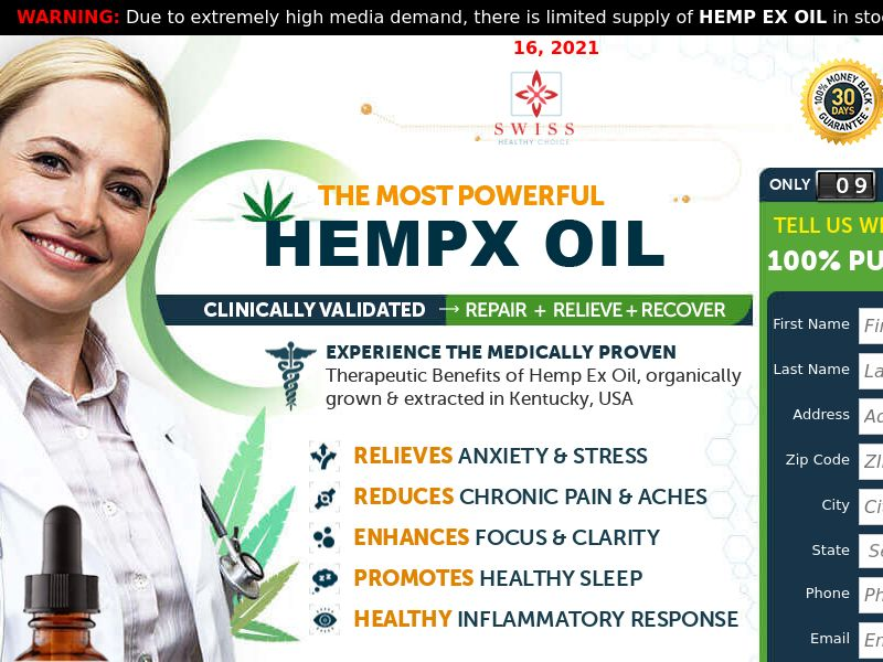 HempX CBD Oil (Trial) - US