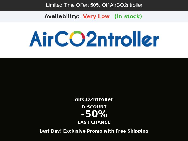 AirCO2ntroller - 50% Off Limited Time Offer