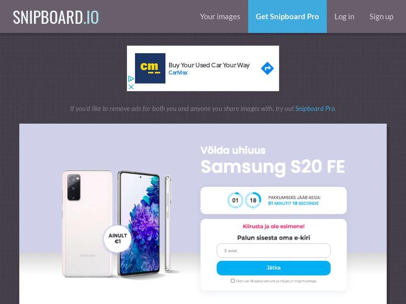 MagnificentPrize - Samsung Galaxy S20 EE - CC Submit