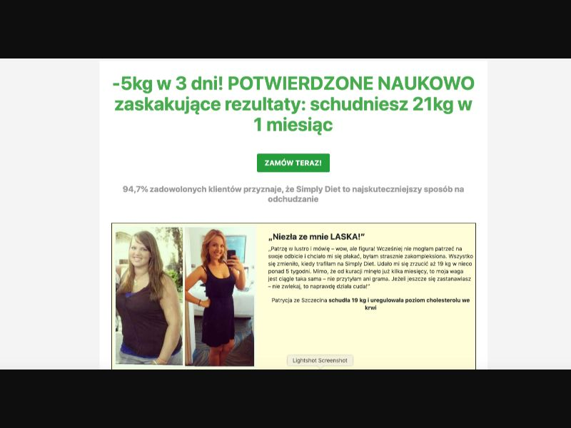 Simply Diet - CC Submit - PL - Well-being - Responsive