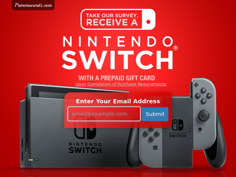 Nintendo Switch - Email Submit - Incent