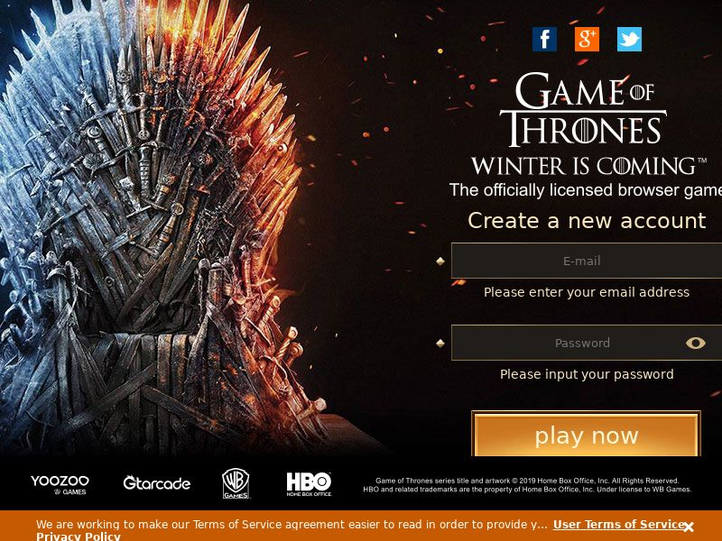 Game of Thrones - Tier4 (DZ,DO,EC,IN,KE,NG,PE,VE,VN), [CPA], Entertainment, Games, Browser games, Sport & Hobby, Single Opt-In, game