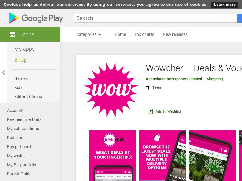 Wowcher Android UK