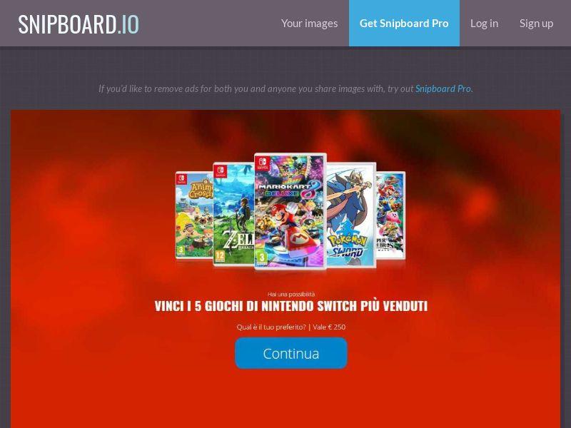 38271 - IT - LeadMarket - Nintendo switch games (Without prelander) - SOI