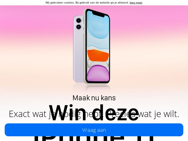 GreenFlamingo - iPhone 11 - NL (NL), [CPL], Lotteries and Contests, Single Opt-In, paypal, survey, gift, gift card, free, amazon