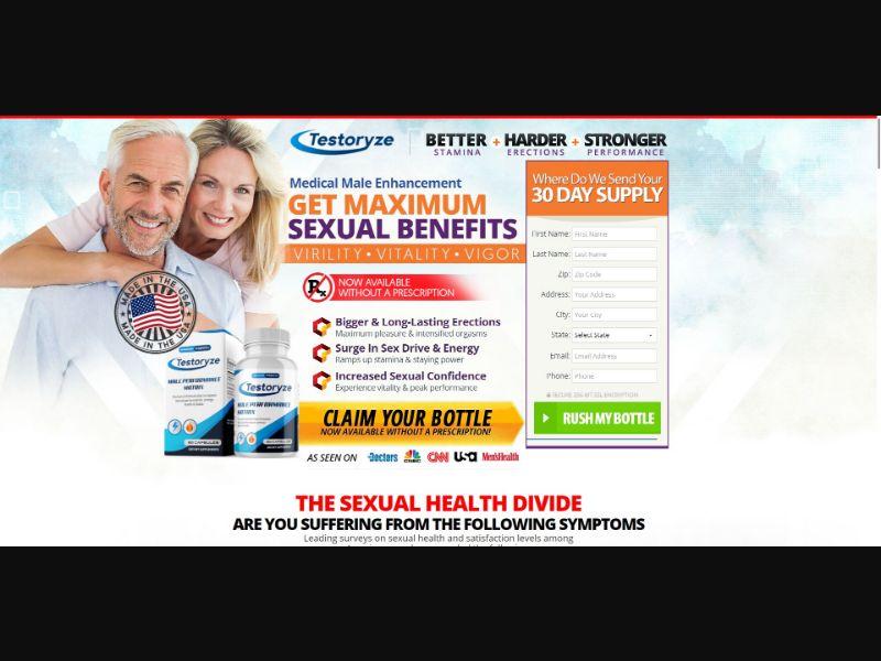 Testoryze Male Performance Matrix - Male Enhancement - Trial - [US]