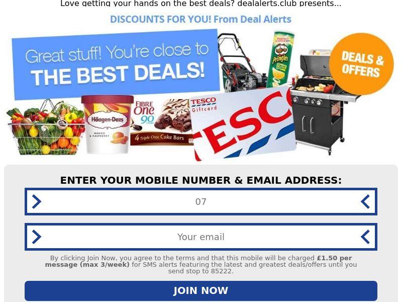Pin Submit - Tesco Deals [UK]