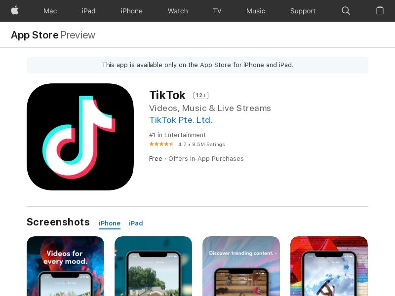TikTok - iOS - MX <<*PENDING*PRIVATE OFFER*>>