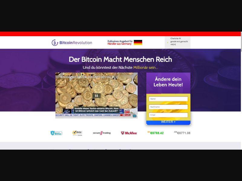 Bitcoin Revolution - 250 min CTC - VSL - Crypto - SS - [DE]