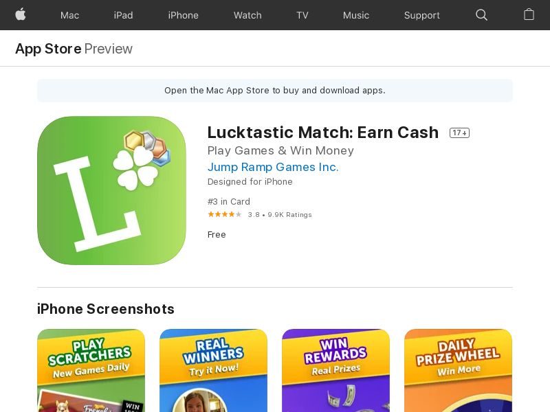Lucktastic Match - iOS - INCENT - US