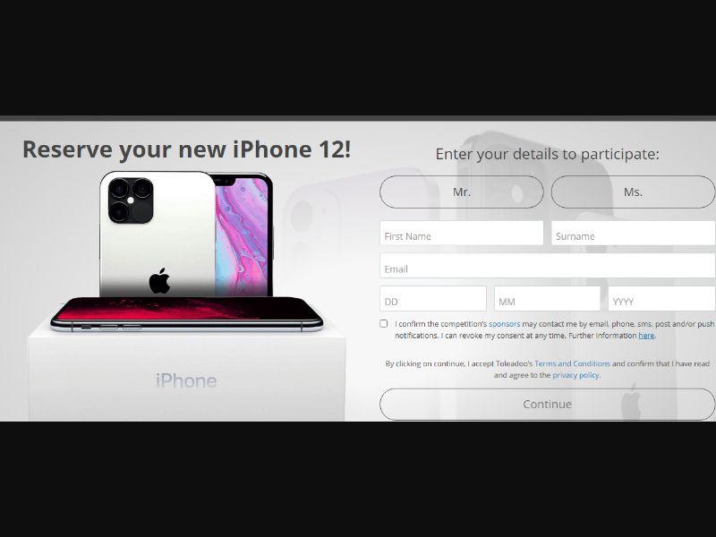 UK - Win Iphone 12 [GB] - SOI registration