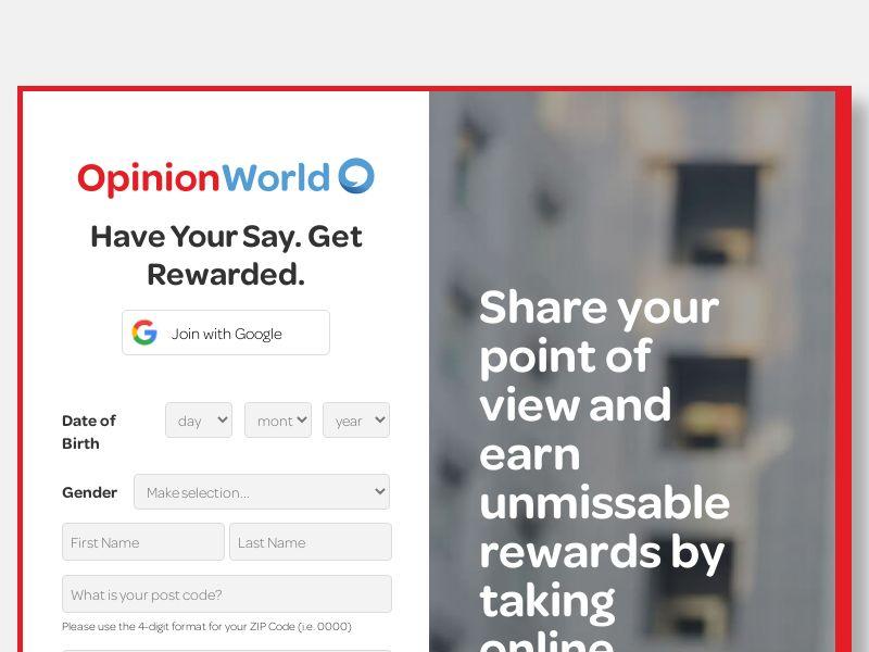 OpinionWorld Panel - AU