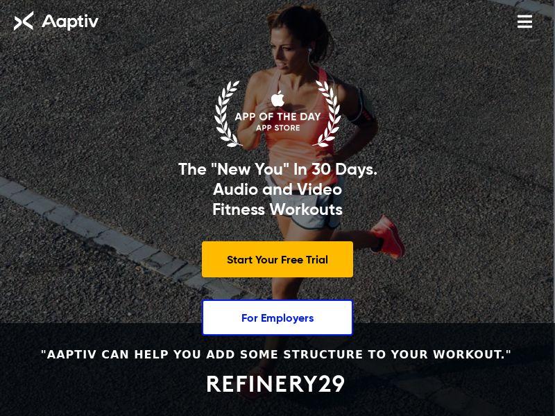 Aaptiv - Workout App - INCENT - AU, CA, FR, DE, NZ, UK, US