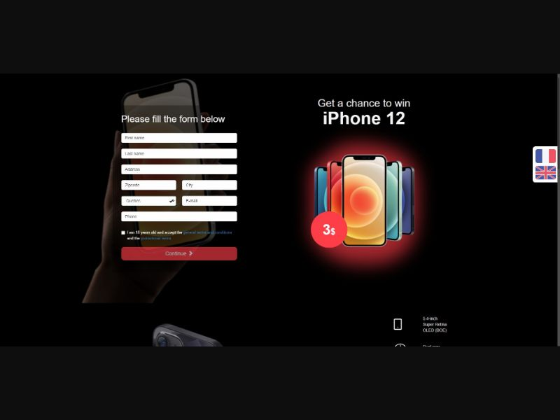 iPhone 12 - Sweepstakes & Surveys - Trial - [CA]