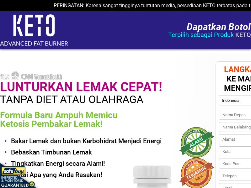 Keto Advanced Fat Burner LP04 (Indonesian)