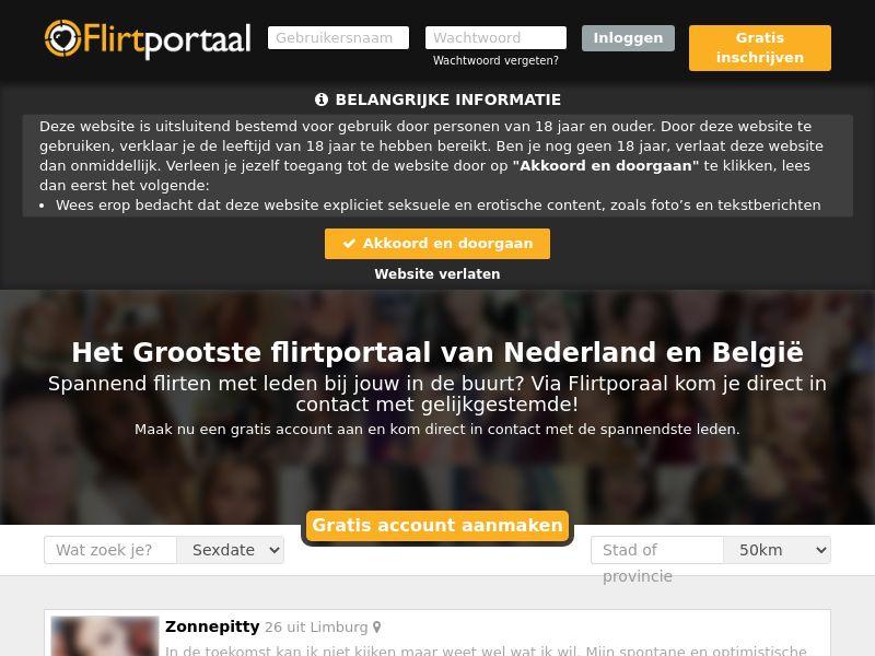 Flirtportaal.nl - DOI - Responsive - NL/BE