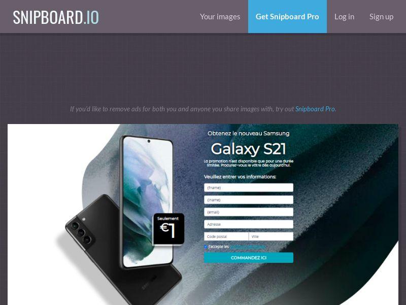 MyeBooky - Samsung Galaxy S21 LP63 FR - CC Submit