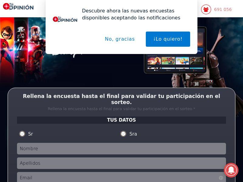 Disney+ Survey - ES