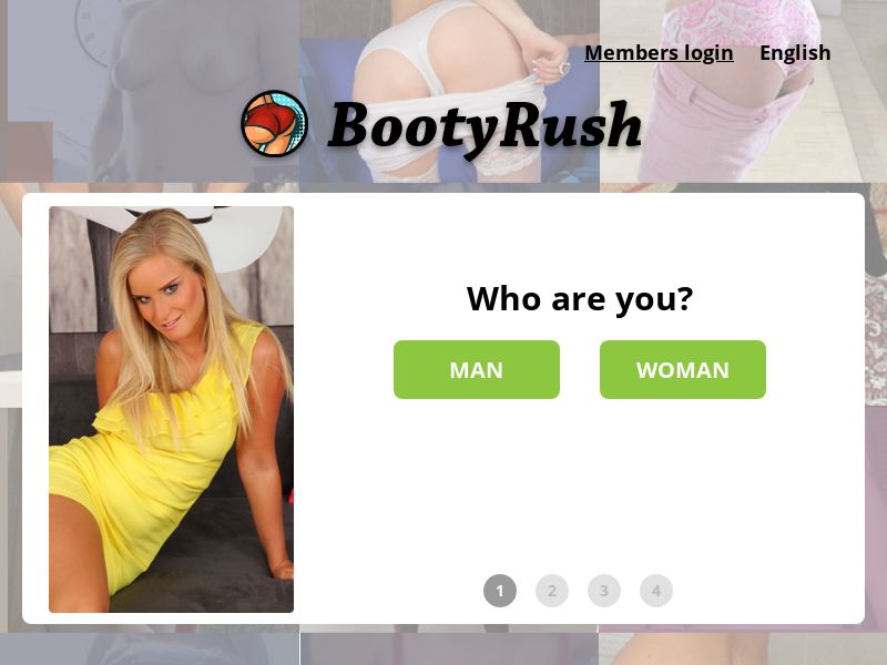 BootyRush (AU,BE,FR,IT,NL,SK,ES,US), [CPA], For Adult, Dating, Content +18, Sell, women, date, sex, sexy, tinder, flirt