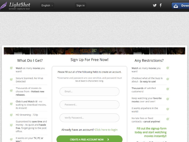 Sugar Beats Flix Direct to signup (Video Streaming) (CC Trial) - NZ IE PR